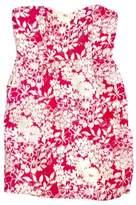 Badgley Mischka Pink & Cream Strapless Sequin Dress