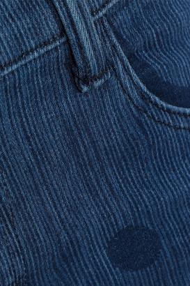 J Brand 835 Cropped Polka-dot Mid-rise Skinny Jeans