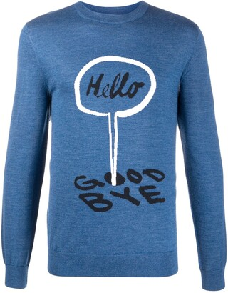 Paul Smith Slogan Embroidered Jumper