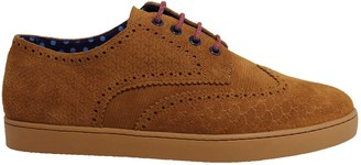 Lords Of Harlech Peacock Brogue Sneaker In Sand