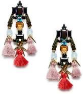 Sole Society Statement Pom Tassel Earrings