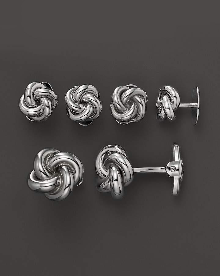 Dolan & Bullock Dolan Bullock Sterling Silver Love Knot Cufflink Set and Stud Set