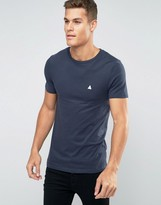 Asos Extreme Muscle T-Shirt With Crew Neck And Logo In Navy