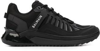 Balmain printed logo low-top sneakers