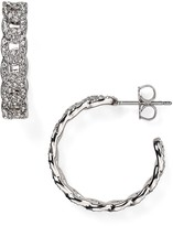 Nadri Crystal-Studded Hoop Earrings