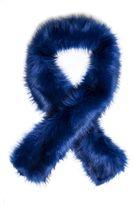 Quiz Blue Faux Fur Scarf
