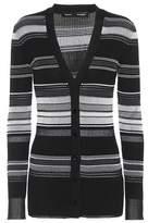 Proenza Schouler Stripped cotton-blend cardigan