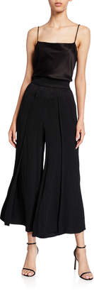 Alice + Olivia Elba Split-Front Ankle Pants
