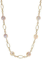 """Honora As Is Ming Cultured Pearl 24"""" Multi -link Necklace 14k Gold 5.2g"""