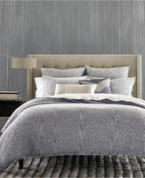 Hotel Collection Waffle Weave Chambray King Duvet Cover, Created for Macy's