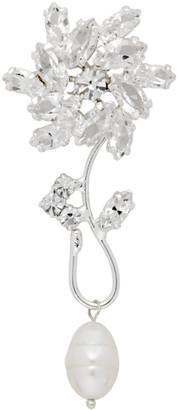 Magda Butrym Silver Pearl Flower Motif Earring