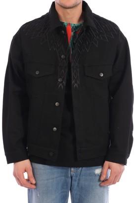 Marcelo Burlon County of Milan Wings Denim Jacket Black