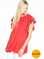 Very Drop Hem Frill Tunic