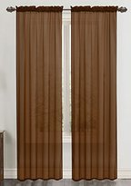 Celine RT Designers Collection Sheer 55 x 90 in. Rod Pocket Curtain Panel, Chocolate
