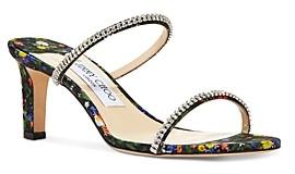 Jimmy Choo Women's Brea 65 High Heel Crystal Strap Sandals
