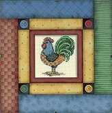 Dimensions Daydreams Patchwork & Buttons Rooster Cntd X-Stitch Kit