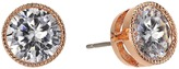 Lauren Ralph Lauren Rose Gold Social 8mm Crystal Stud Earrings