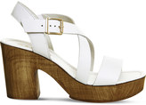 Office Michigan leather cross-strap heeled sandals