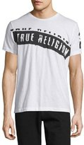 True Religion Logo-Stamped Short-Sleeve Jersey T-Shirt, White