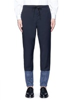 3.1 Phillip Lim Grid cuff wool lounge pants
