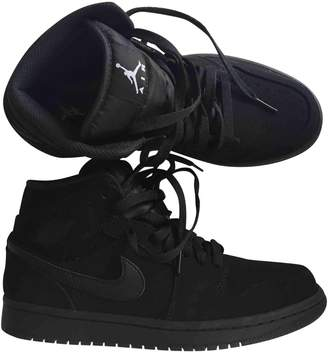 Jordan Black Suede Trainers