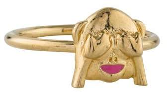 Alison Lou 14K See No Evil Stack Ring