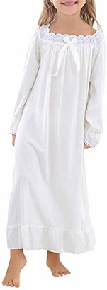 Verve Jelly Girls Toddler Nightgowns Cotton Pajamas Long Sleeve 7-8 Years