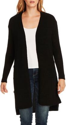 Vince Camuto Side Button Long Cotton Blend Cardigan