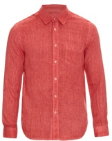 120% Lino Button-cuff Linen Shirt