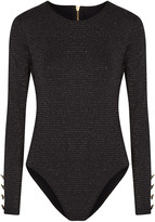 Cushnie et Ochs Open-back metallic stretch-jersey bodysuit
