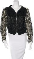 Dries Van Noten Jacquard Embellished Jacket