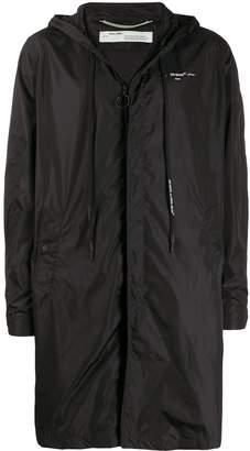 Off-White lightweight hooded rain coat