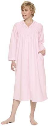 Miss Elaine Women's Essentials Brushed Back Terry Long Robe