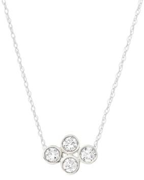 "Elsie May Diamond Bezel Pendant Necklace (1/10 ct. t.w.) in Sterling Silver, 15"" + 1"" extender"