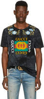 Gucci Black Floral Logo T-Shirt
