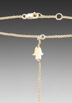 Jennifer Zeuner Jewelry Hamsa Handchain in Gold