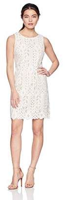 Jessica Howard Women's Petite Sleeveless Lace Shift Dress,16
