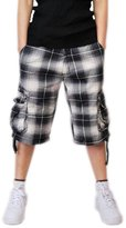 MedzRE Men's Summer Check&Plaid Cargo Shorts-Straight Fit