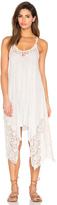 Ale By Alessandra V Neck Lace Dress