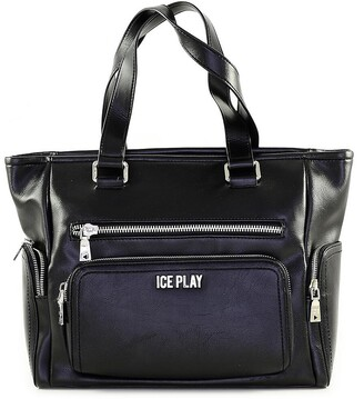 Black Front Pocket Satchel Bag