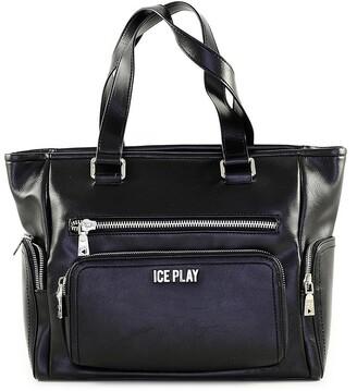Ice Play Black Front Pocket Satchel Bag