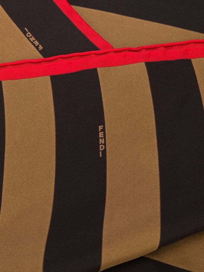 Thumbnail for your product : Fendi Striped Logo Print Scarf