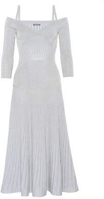 Alexander McQueen Off-the-shoulder knitted dress