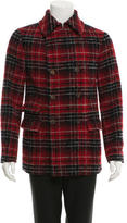 Ermanno Scervino Plaid Wool Double-Breasted Coat