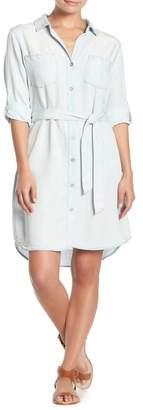 Velvet Heart Anita Roll-Up Long Sleeve Waist Tie Dress