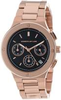 Kenneth Jay Lane Women's KJLANE-2111 Chronograph Dial Rose Gold Ion-Plated Stainless Steel Watch