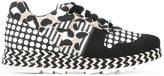 Stella McCartney mixed print Macy sneakers - women - Cotton/Raffia/Artificial Leather/rubber - 36