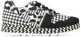 Stella McCartney mixed print Macy sneakers - women - Cotton/Raffia/Artificial Leather/rubber - 39