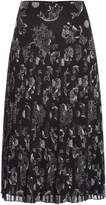 Biba Printed drop waist pleated skirt