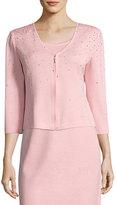 St. John Embellished Santana Knit Jacket, Pink